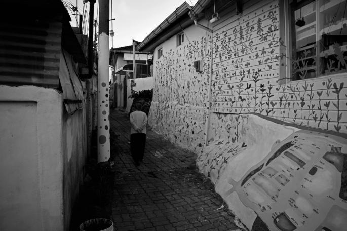 Old Lady Walks Home, Cheongju, South Korea