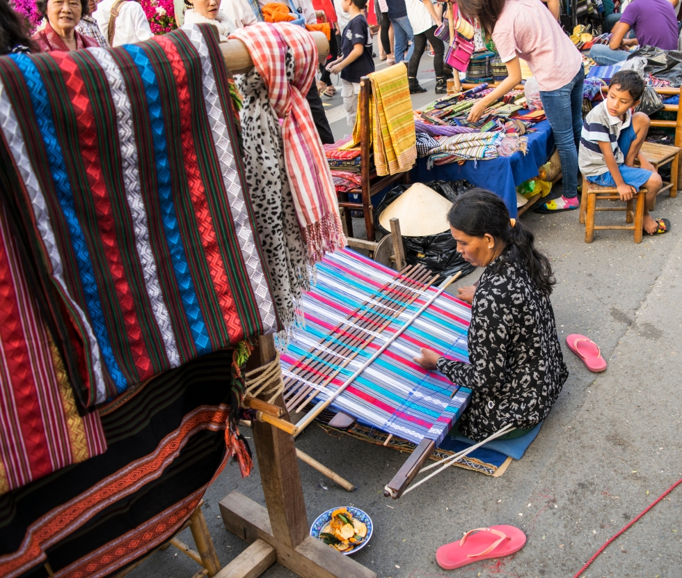 A Woman Weaves, Ho Chi Minh City, Vietnam