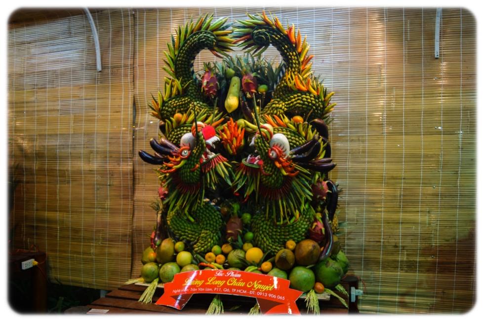 Display at Lunar New Year Festival, Vietnam 2015