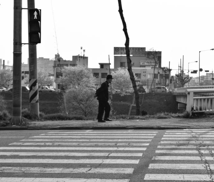 Old Man Walking, Cheongju, South Korea, April 2015
