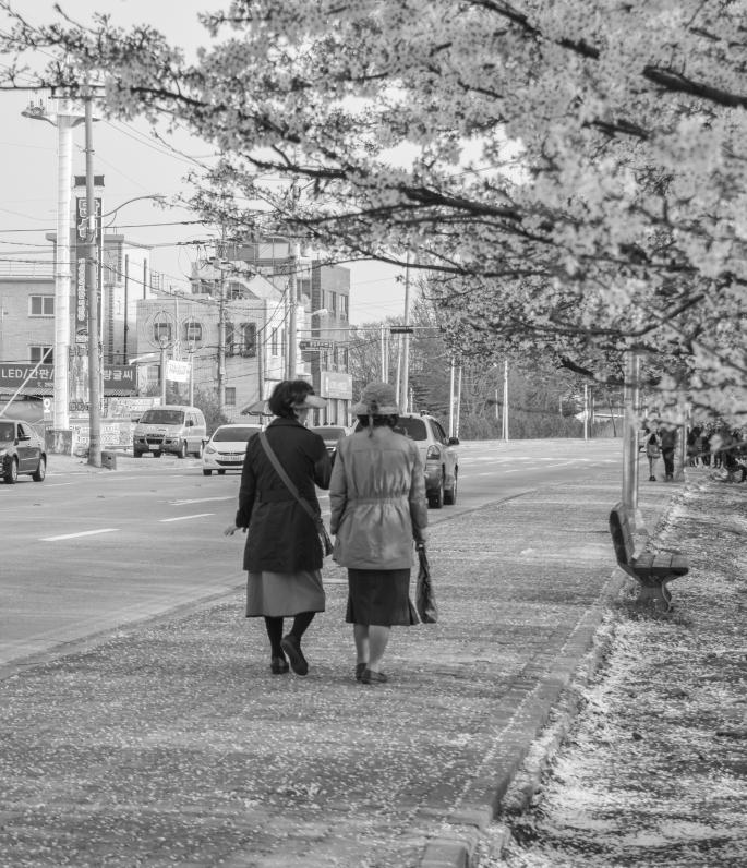 Two Old Ladies, Cheongju, South Korea, April 2015
